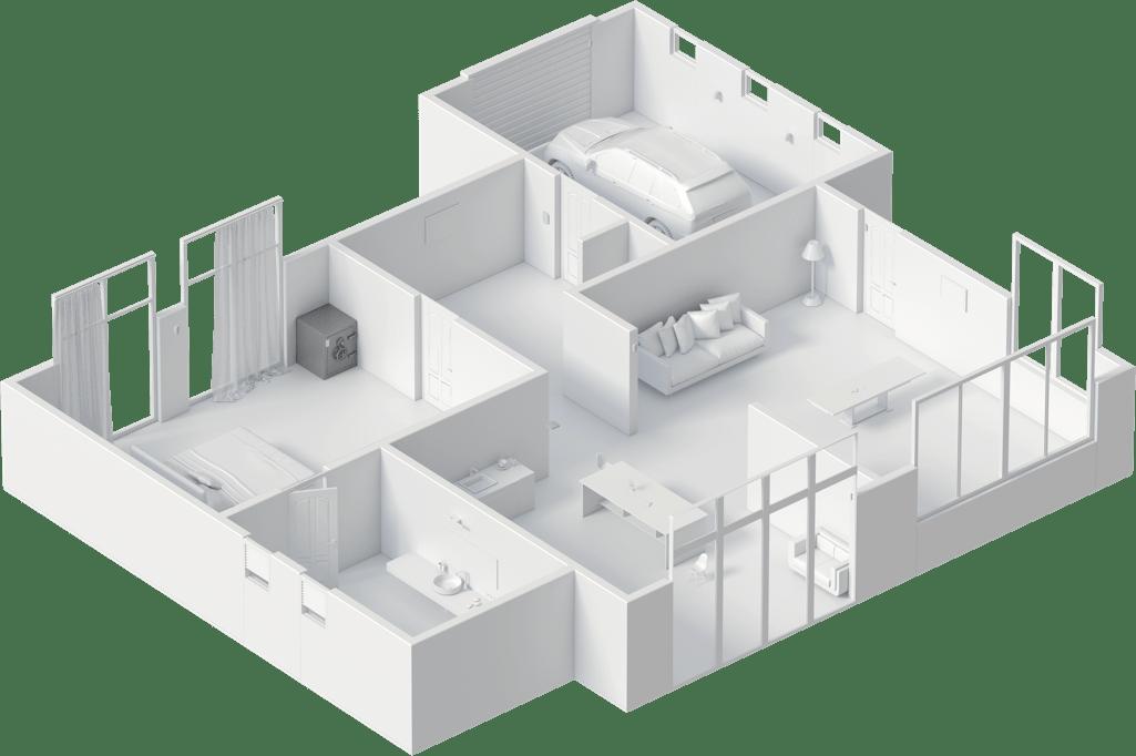 AJAX riasztórendszer - mozgás- és nyitásérzékelők